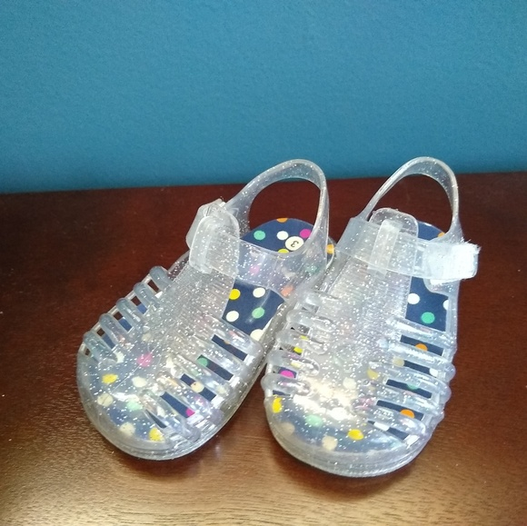 Shoes | Clear Silver Jelly Baby Size 3